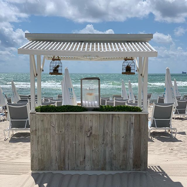 The 1 Hotel is one of our favorite projects! All reclaimed paneling#custombeach #outdoorhospitalitysolutions