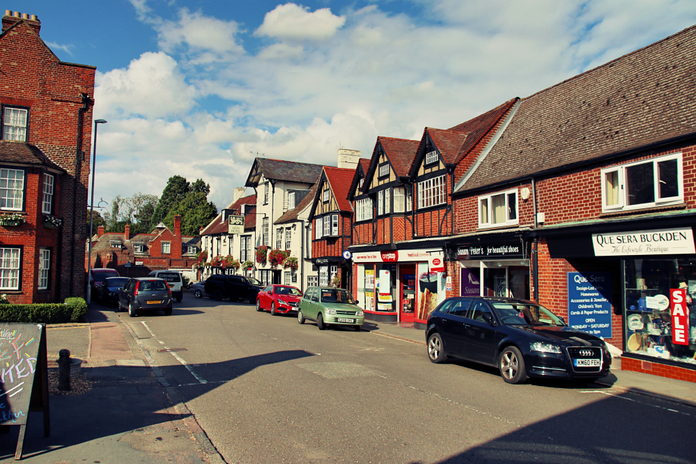 High Street in Buckden, England