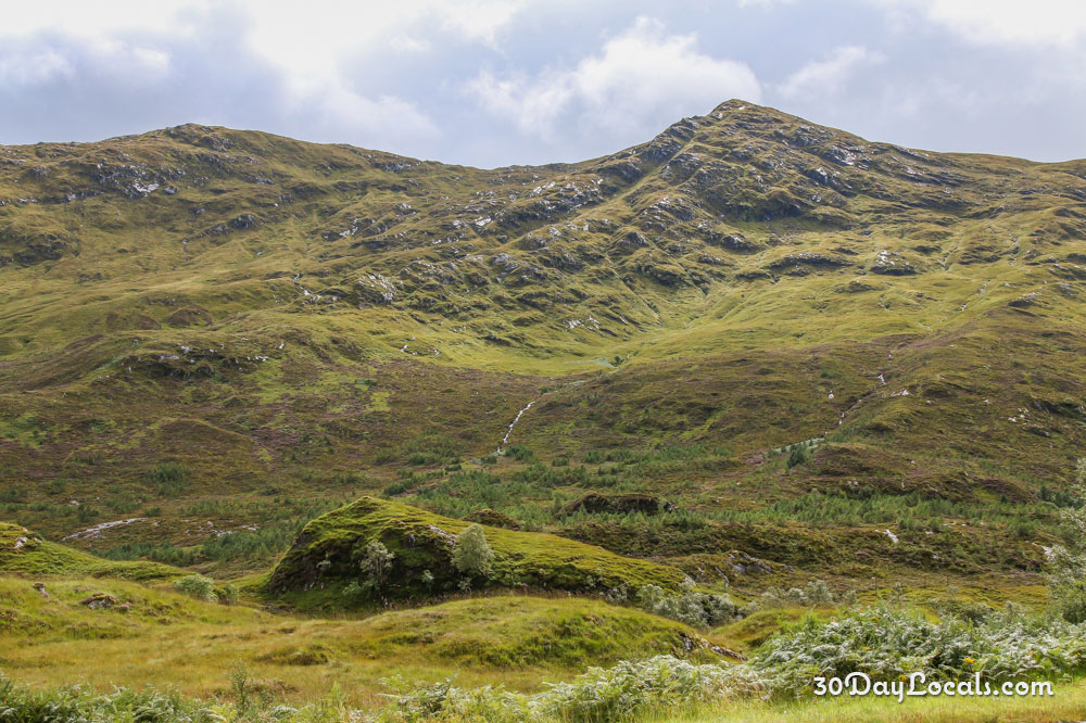 Beautiful scenery in the Scottish Highlands