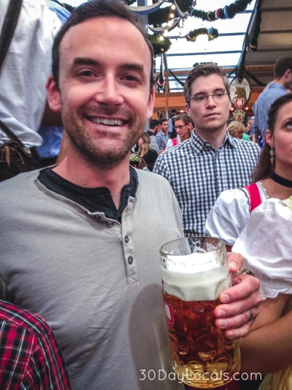 Brett enjoying his first night at Oktoberfest.