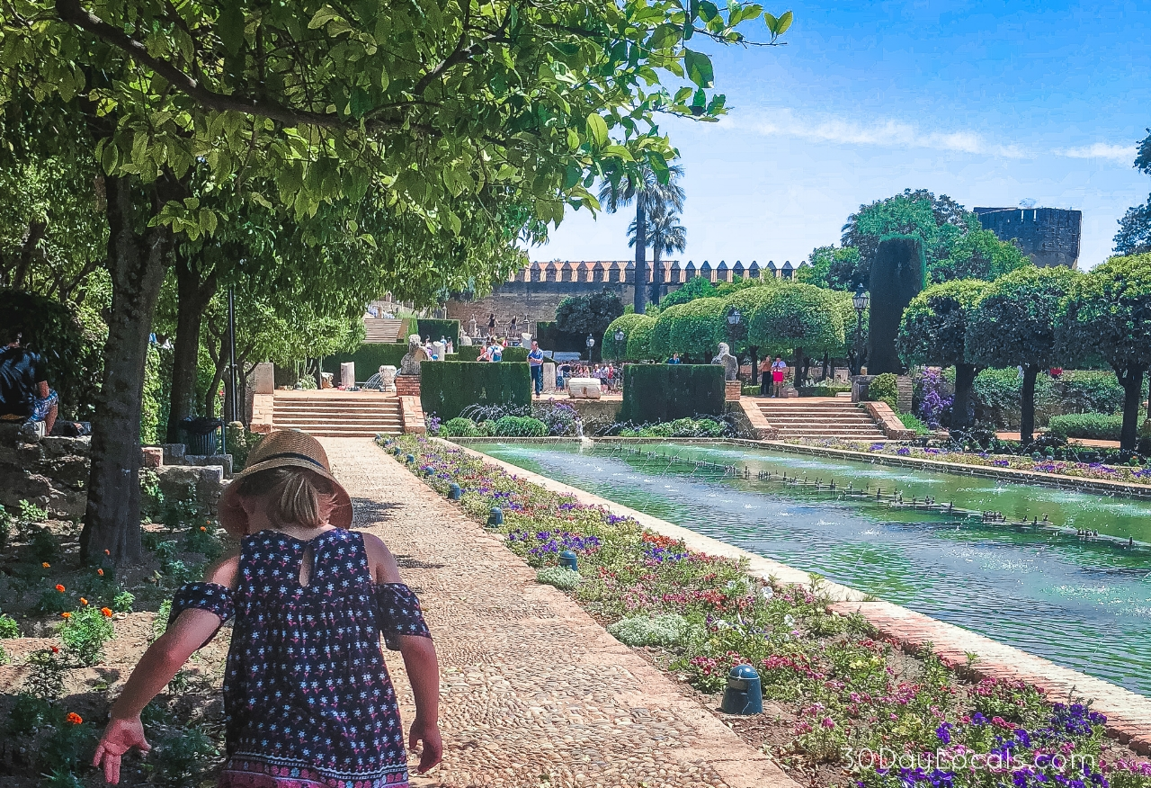 Visiting the Alcazar in Cordoba Spain with kids.