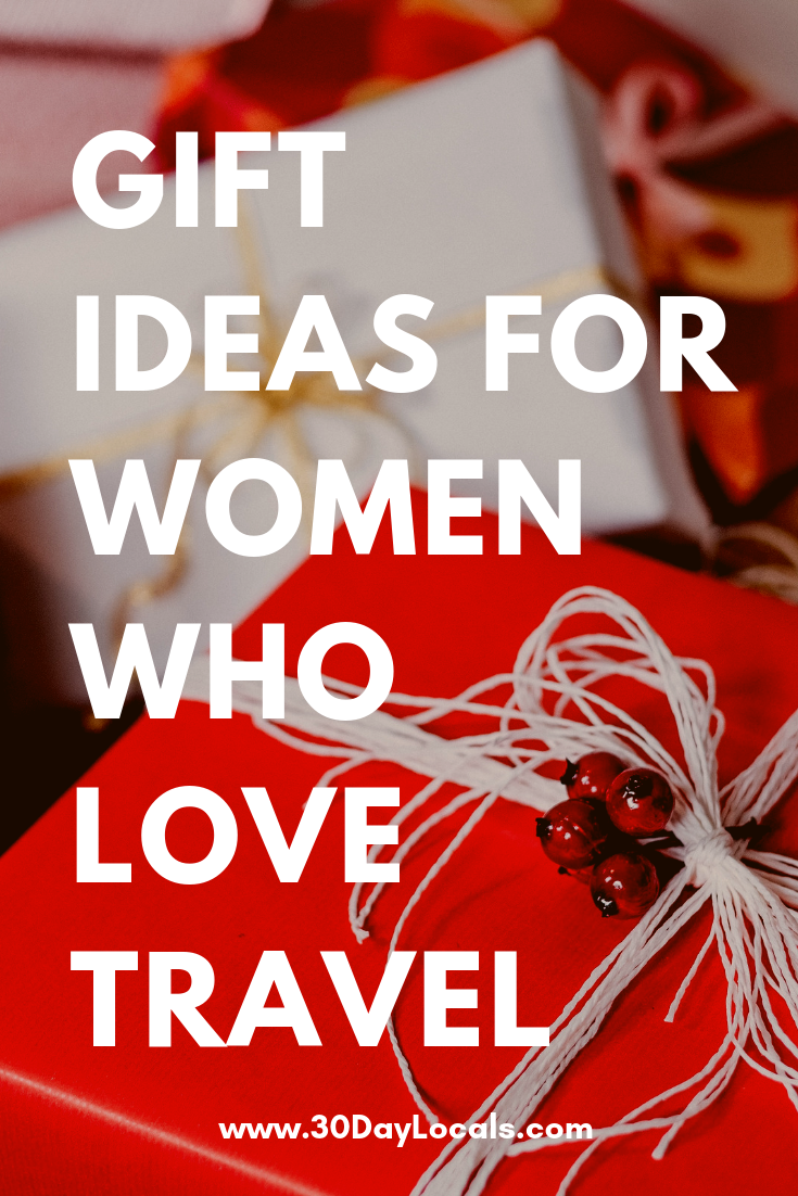 Gift ideas for women who love to travel. Give her something this year that ignites her love of seeing the world. #holidaygifts #holiday #christmasgift #giftidea #giftguide