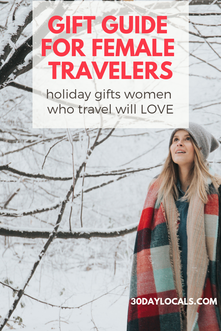 Gift Guide for Female Travelers: These are the holiday gifts women who travel will love. #holidaygifts #holiday #christmasgift #giftidea #giftguide