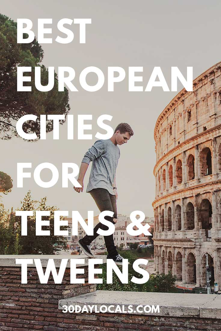 Ready for a family vacation, but not sure where to go with your teens or tweens? We think Europe is a great choice. These are the best cities in Europe that your teens and tweens will love.