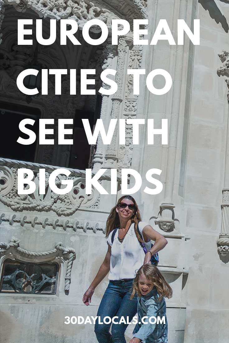 Looking for vacation ideas and where to go with your school-aged children? Here are the top 5 cities for big kids and why your next family vacation should be in Europe.