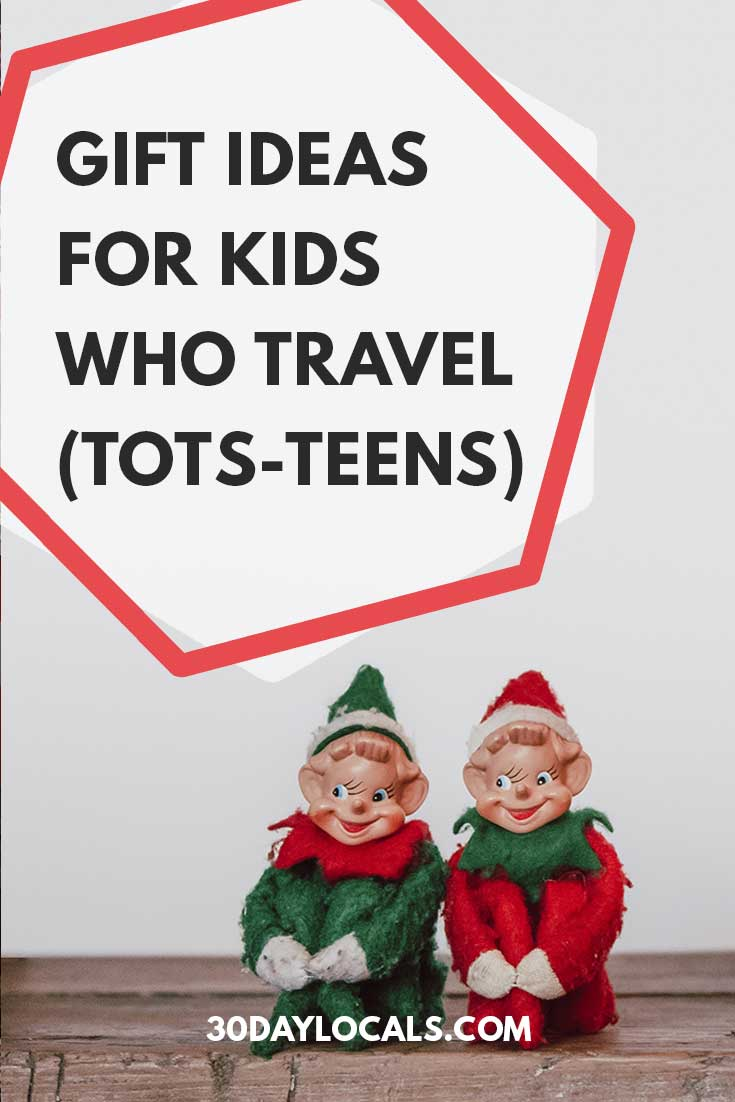 Gift Ideas for Kids who Travel. Best travel gift ideas for kids of all ages from preschool to teenagers. #holidaygifts #holiday #christmasgift #giftidea #giftguide #kidsholiday #kidschristma