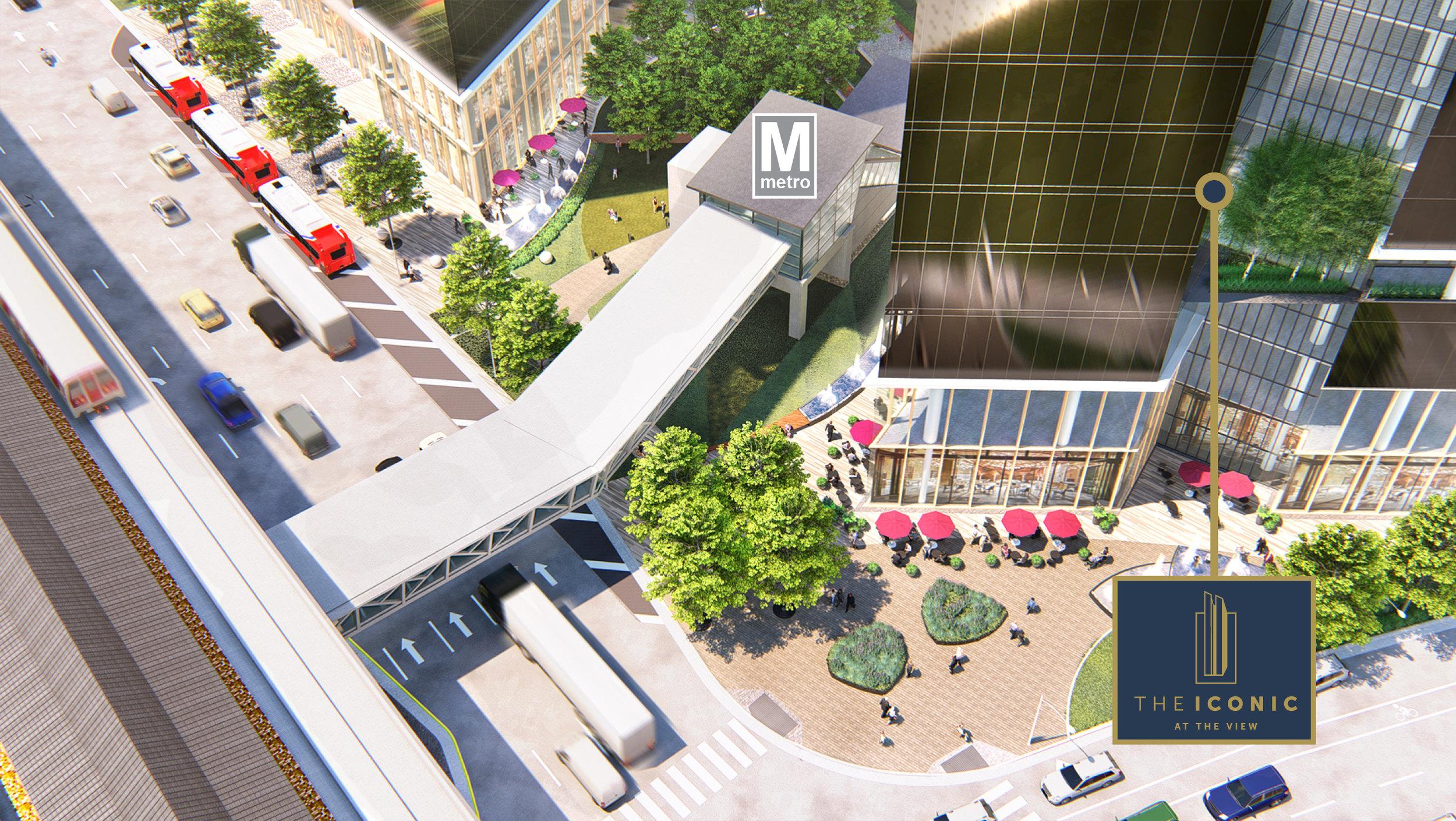 The View Spring Hill Metro Enterance