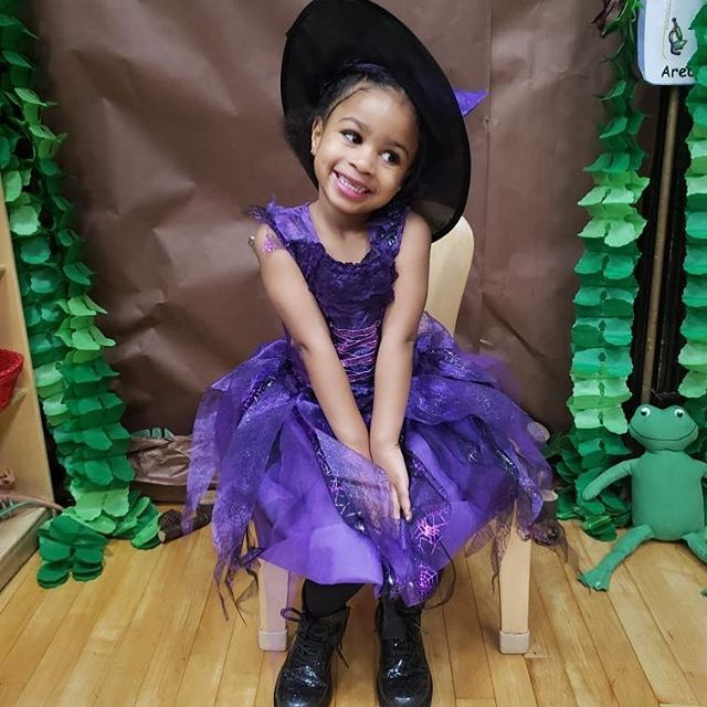 My little Bruja #happyhalloween #costume #witch #bruja