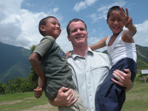 Mark Foley at Jhamtse Gatsal Children's Community in 2008