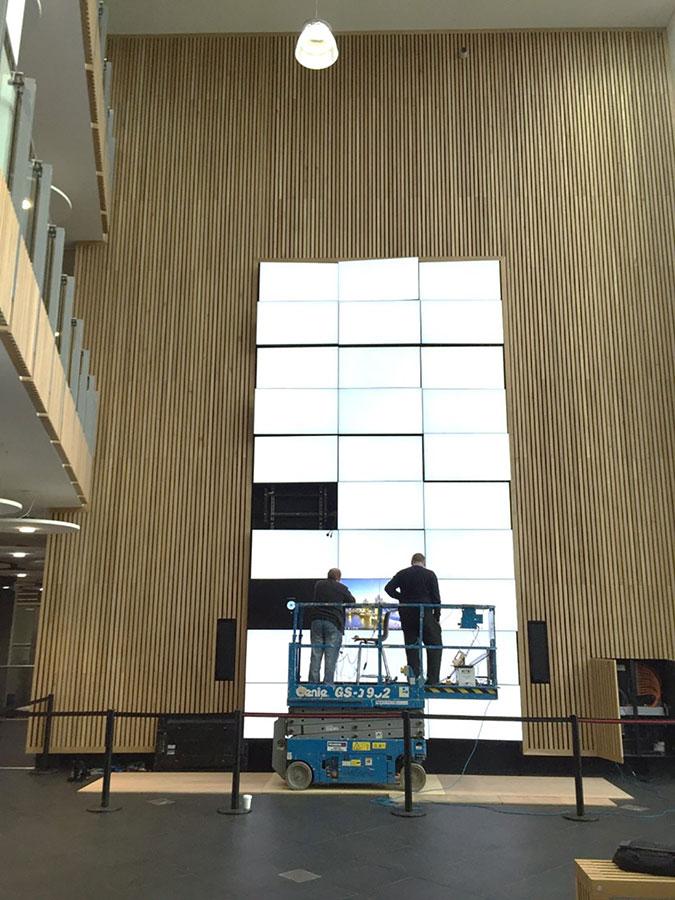 Bath Spa University Video Wall - In Progress