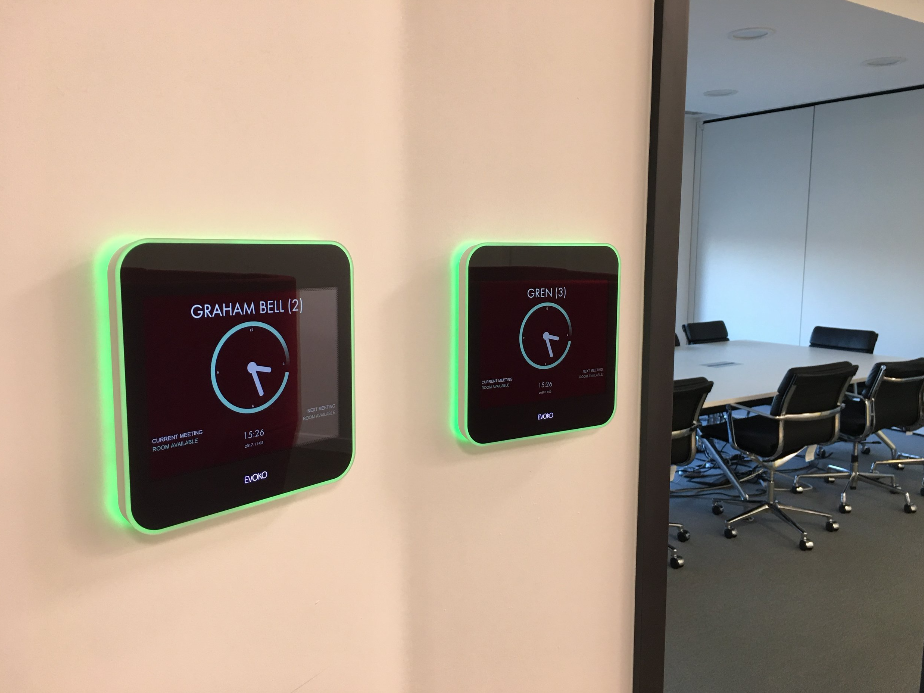 Axis Communications - Evoko Liso room booking systems.