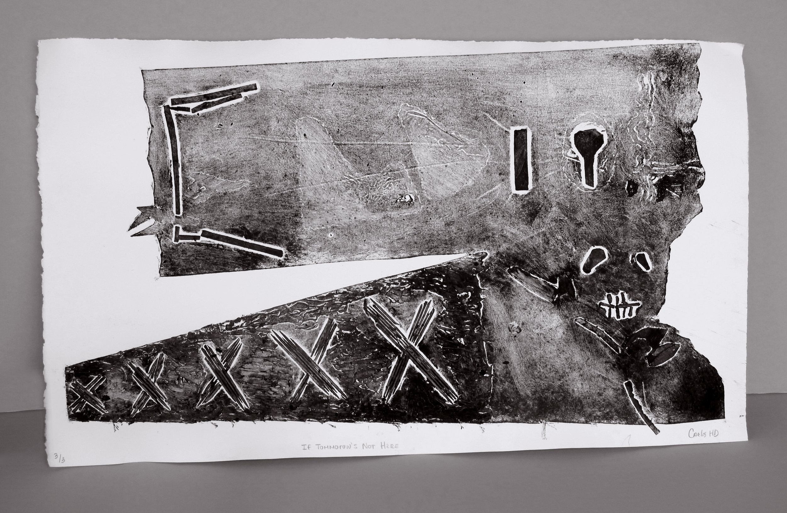 Experimental collagraph and object printing