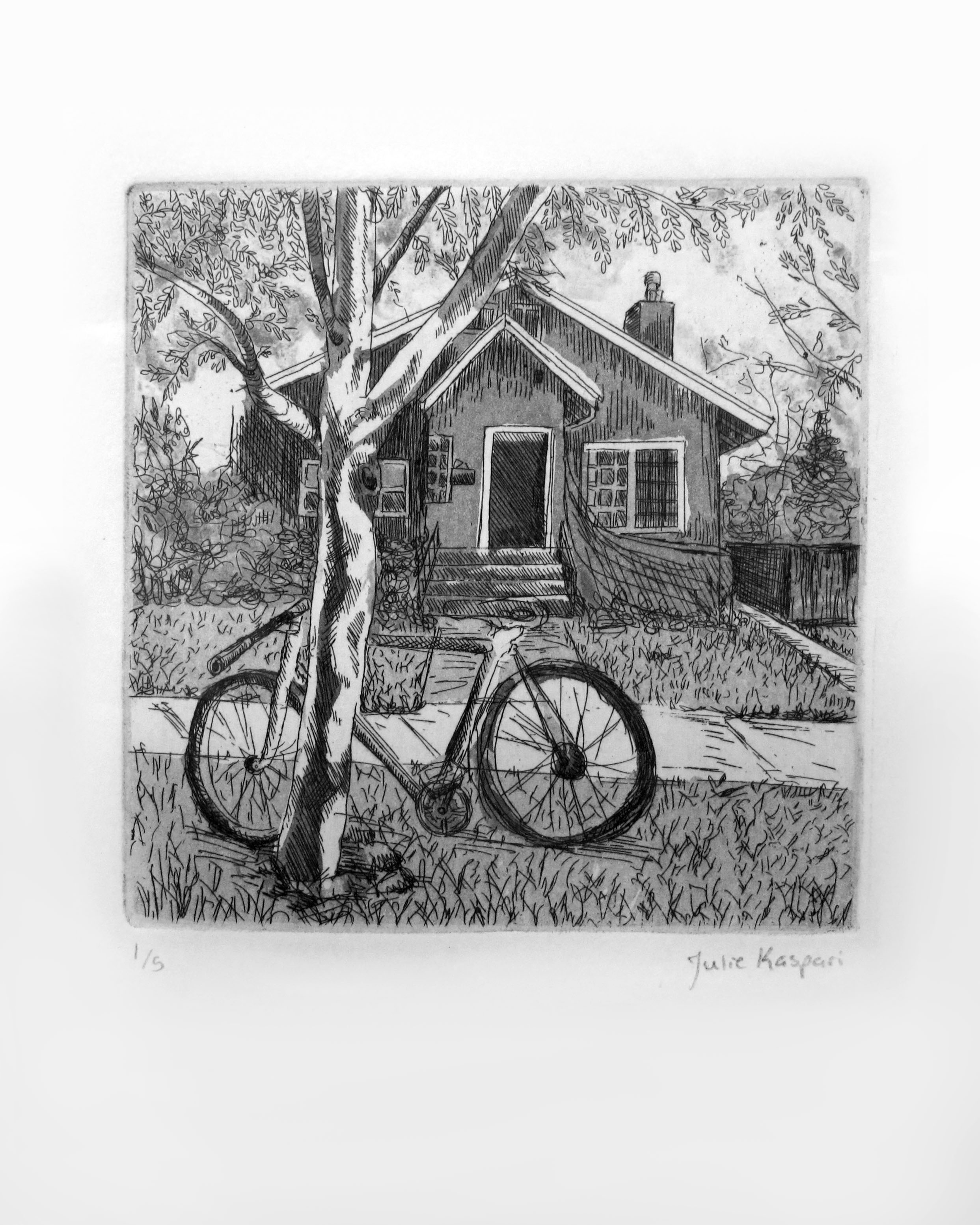 Line etch with aquatint