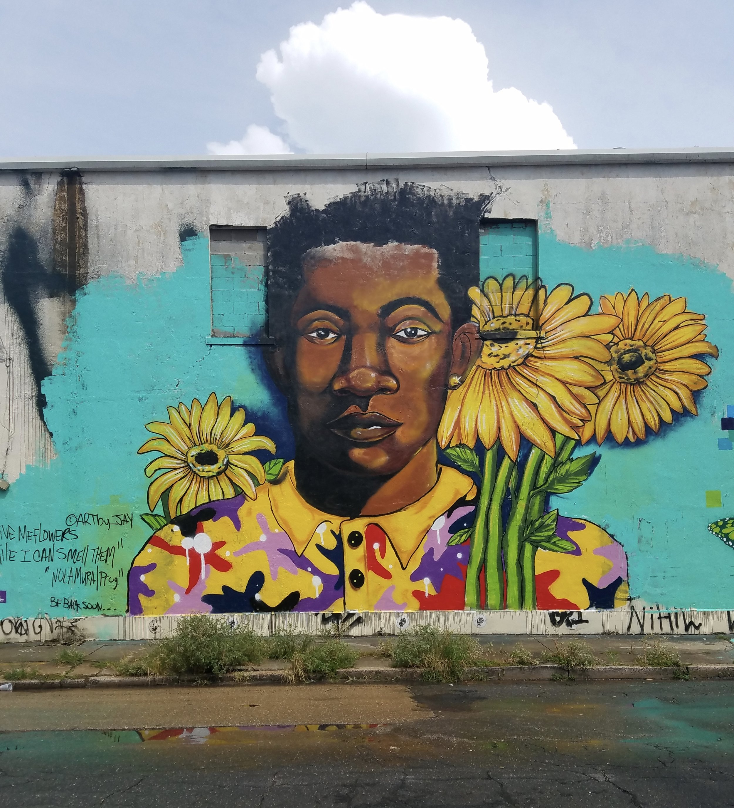 Mural by @artby_Jay, 2600 St. Claude Avenue @ Franklin