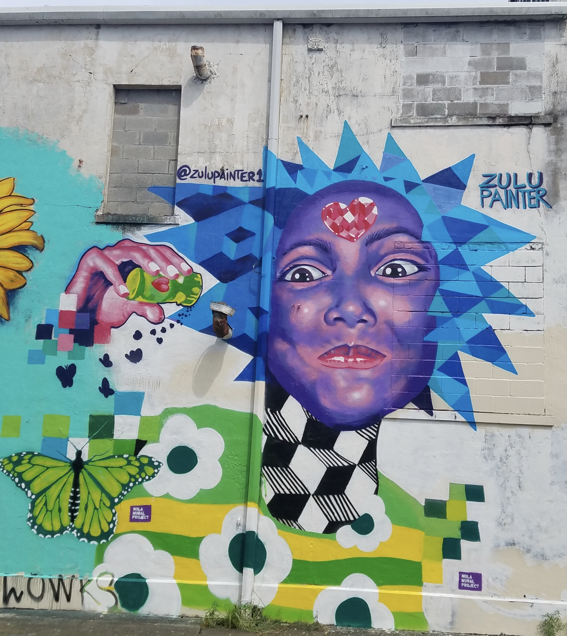 Mural by @ZuluPainter1, 2600 St. Claude Avenue @ Franklin