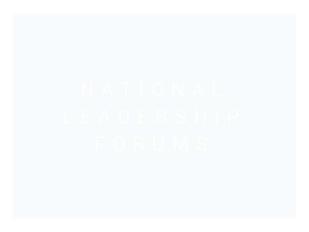 National Leadership Forums