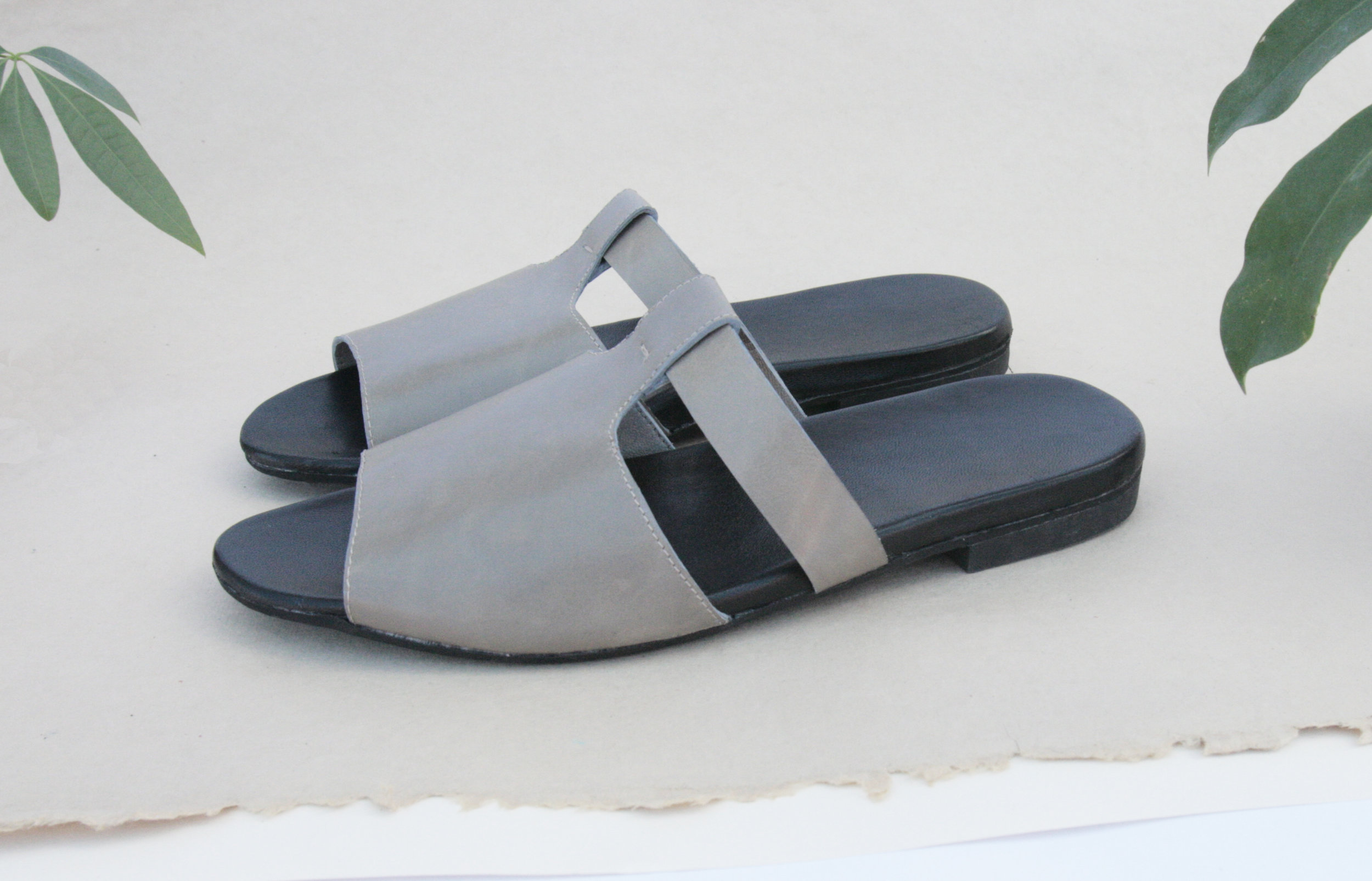 T-Strap Slide - leather comfort sandal shoe - Made in Brooklyn, NY