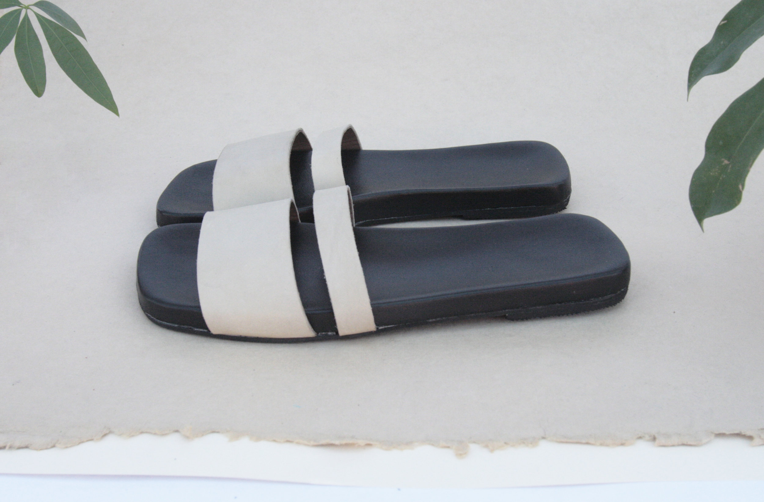 Double Slide with Square Toe - Comfortable sandals made in Brooklyn, NY