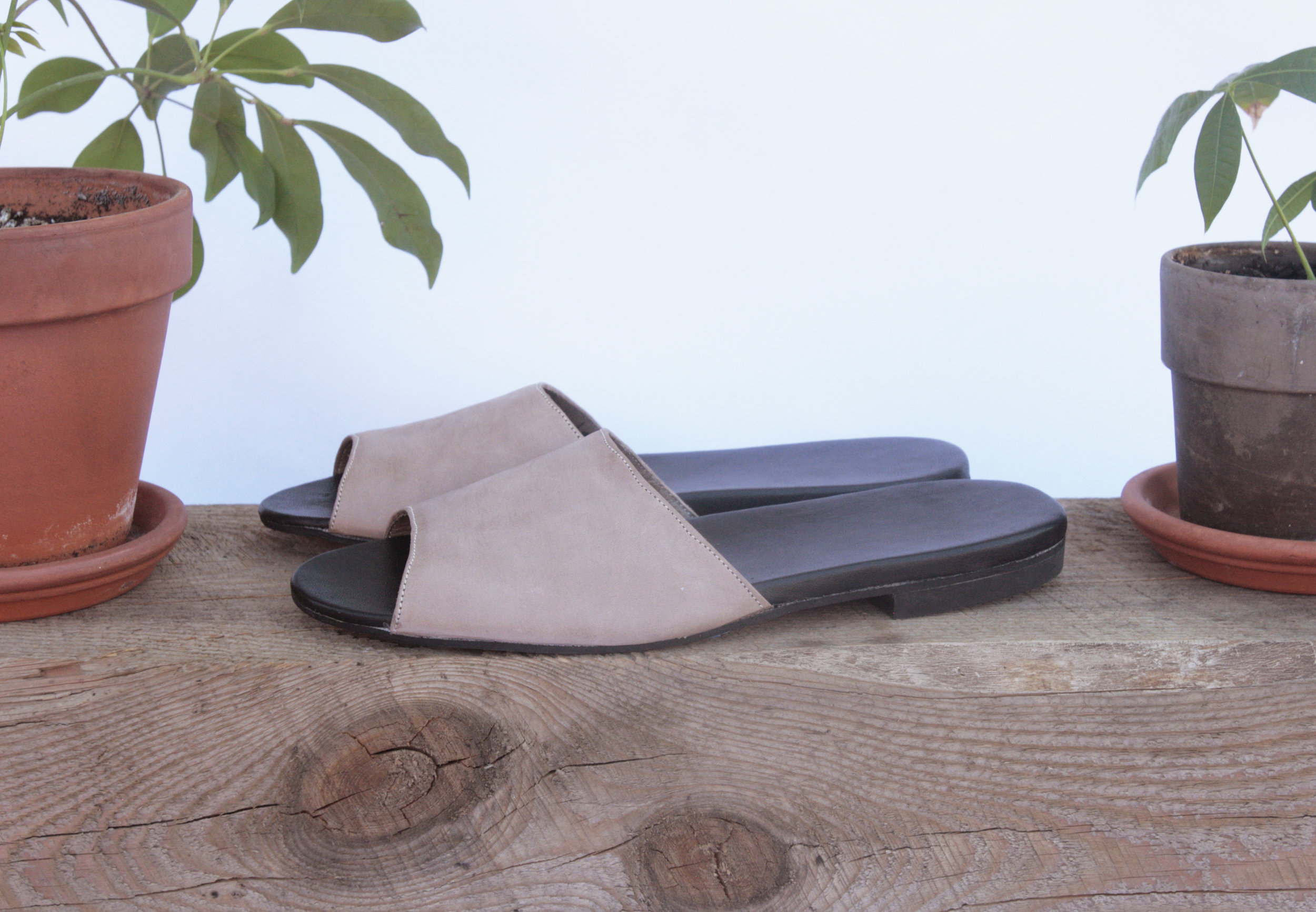 Sandy Slide in Rose Sparkle - custom slide comfort sandals - Made in New York