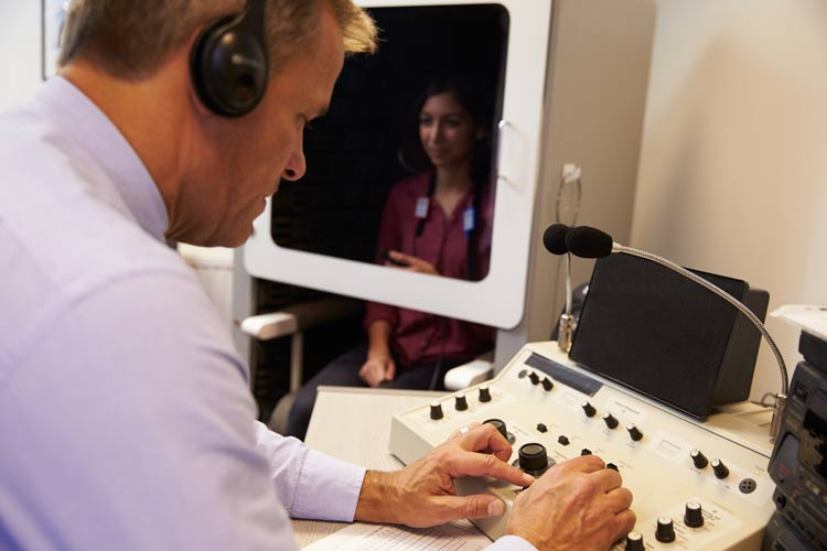 Step 3: - Once your hearing aids are programmed, we will test your hearing with the hearing aids in place.