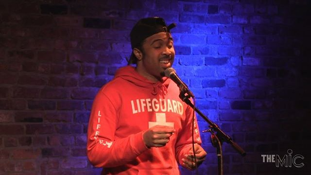 """Uriah singing an a cappella version of """"Open Arms"""" by Journey. Uriah is an R&B Singer songwriter from The Bronx, performing with us for the first time! We love supporting first time performers and introducing them to the community. 🤩🤩 #theMIC⠀ •⠀ •⠀ •⠀ If you want to sign up for a future MIC night, DM us or email signup@themicnyc.com 📲⠀ •⠀ •⠀ •⠀ Don't forget our Next MIC NIGHT ON SEPTEMBER 4th!🥳🥳 We are partnering with @artstartorg this month, where 50% of the donations received will be going to their organization. To donate, please Venmo @themicnyc. Can't make the show? No worries! Catch our Live Stream on Facebook. 🤩🤩🤩"""