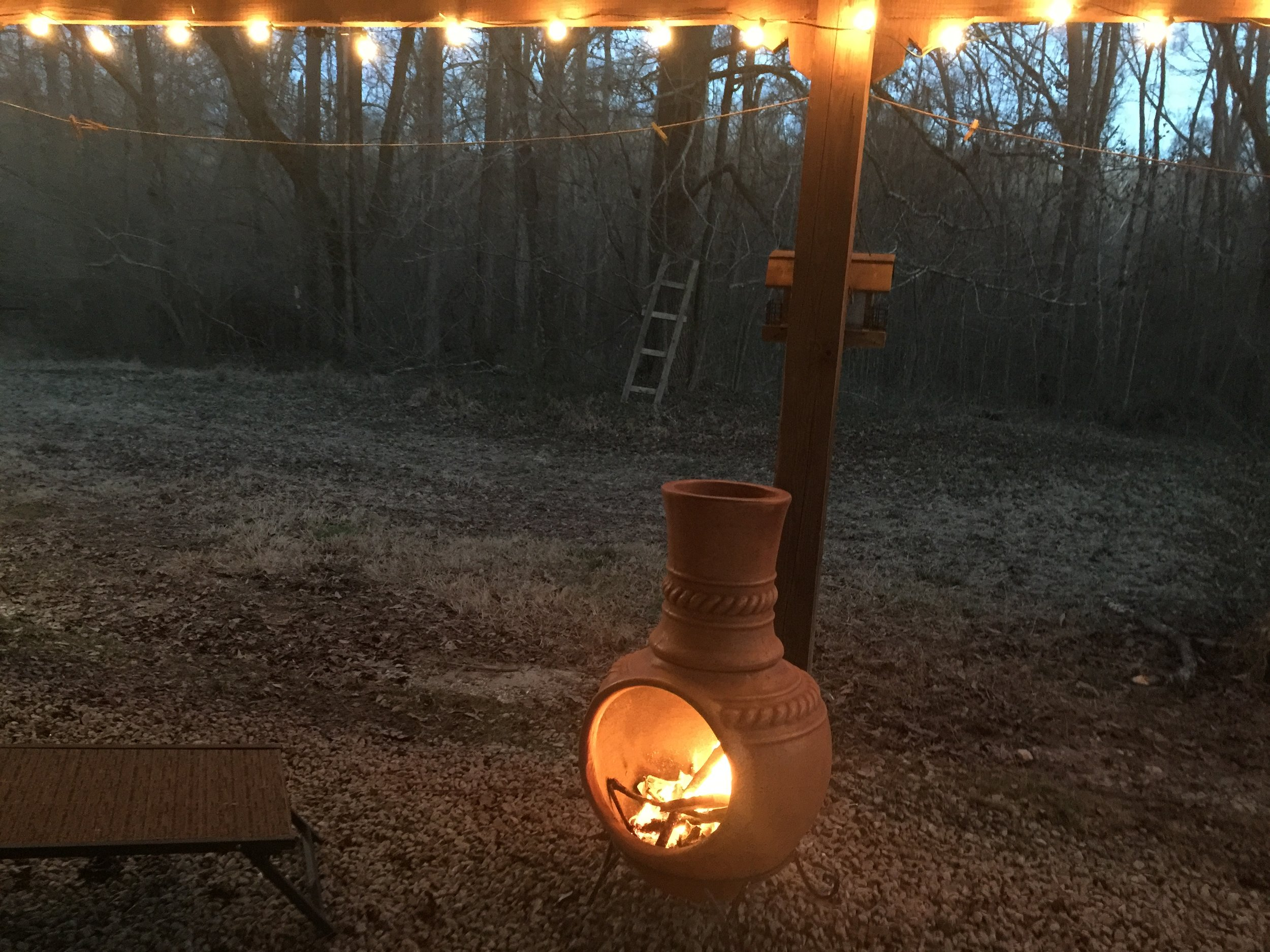 patio and fire -