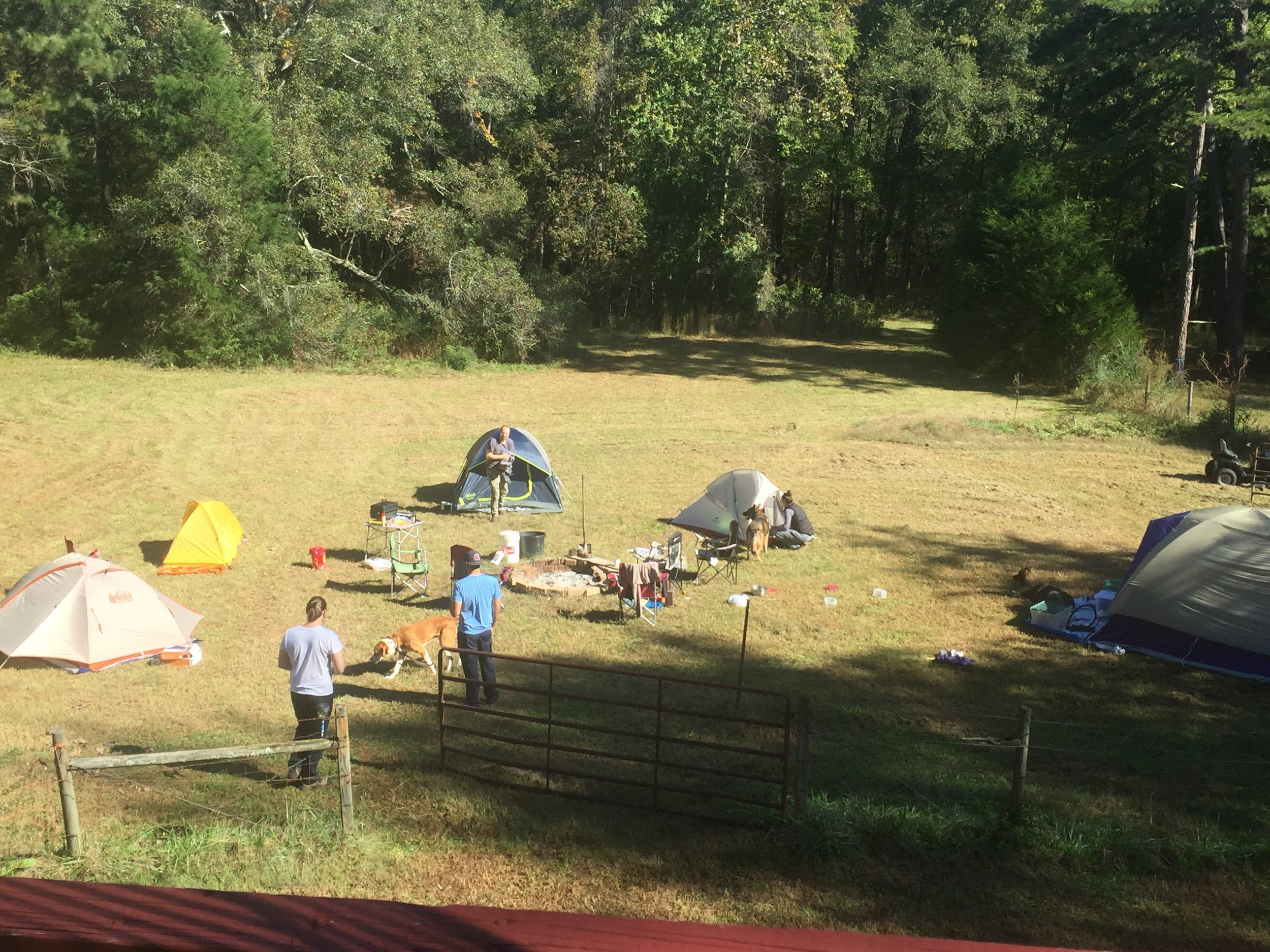 bring your tent -