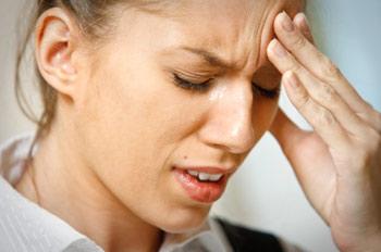 Lady with a headache