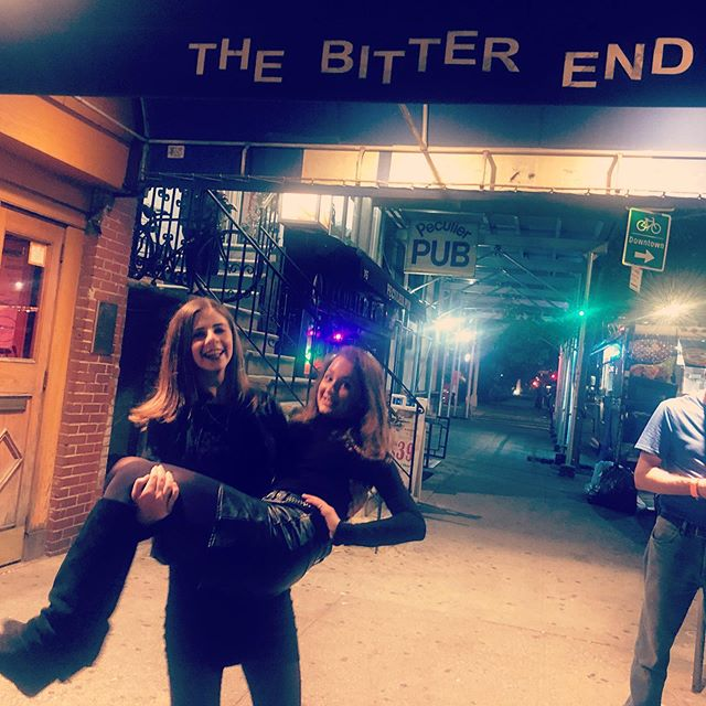 Flashback to last months adventures..super Pfun evening singing with the Kjiersti Long bad for her album launch #friends #thebitterend #music #singer #singersongwriter #lovewhatido #triplethreat @kjersti.long @trapperfelides @briana_kraucheunas_ @lbctalentnyc