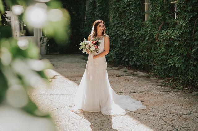 When the bride is literally glowing!  Saturday's wedding could not have been more perfect.  #starlinefactorywedding #starlinefactory #bride #wedding #florals #ivy #sunshine #summerwedding  @applecreekflowers @crystalbrideofficial  @starlinefactoryweddings