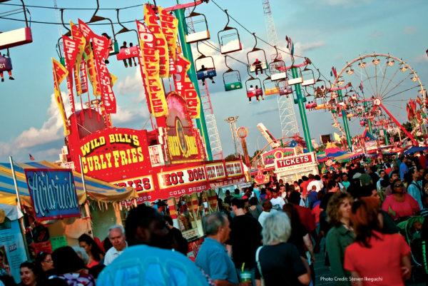 Fair Scene - Skyride and Wild Bill