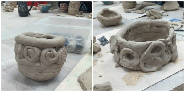 Madison Mud Coil Pot Collage