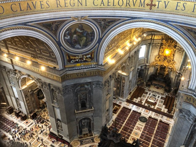 St. Peters in Vatican City looking down from the duomo. Photo Credit: Scott Ferranti