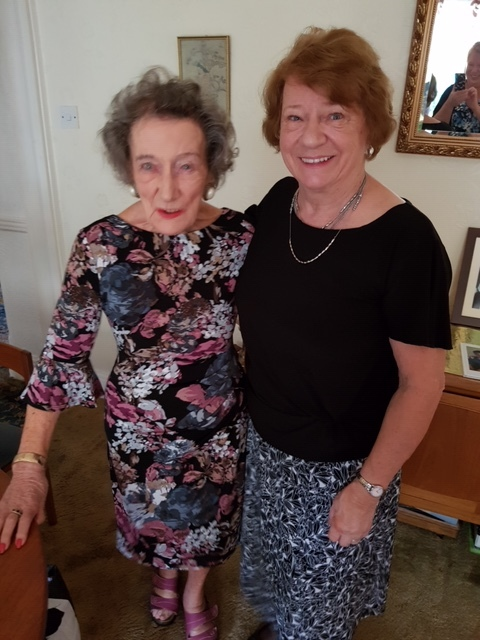 My grandmother and my mom, on my grandmother's 100th birthday.