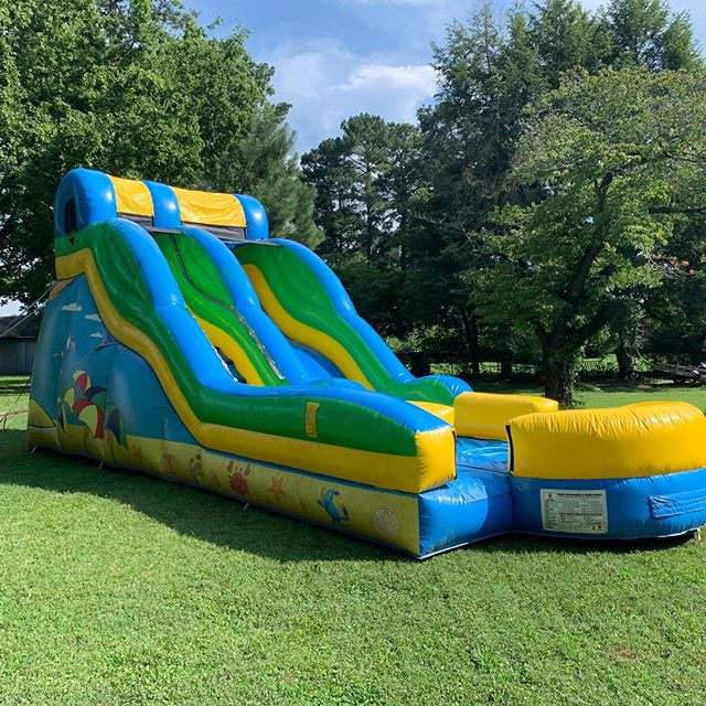 Tis the season #waterslide #backyardparty# #rva