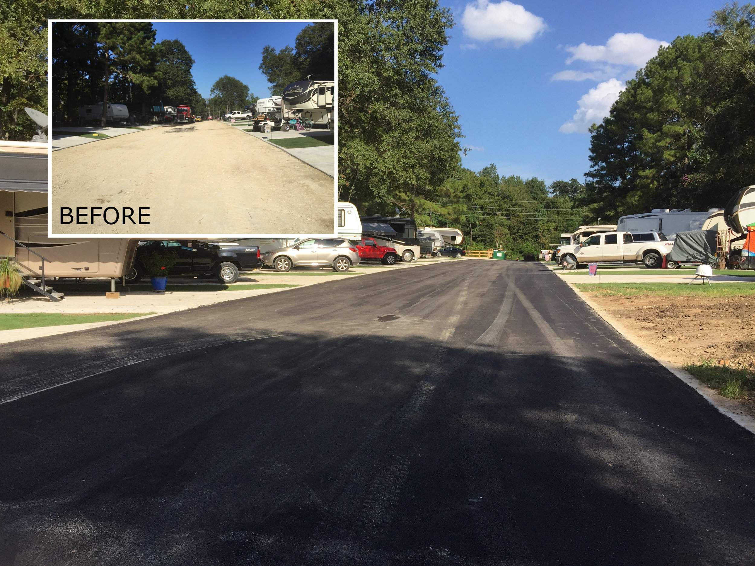 Roads - (Image: RV Park, before & after)
