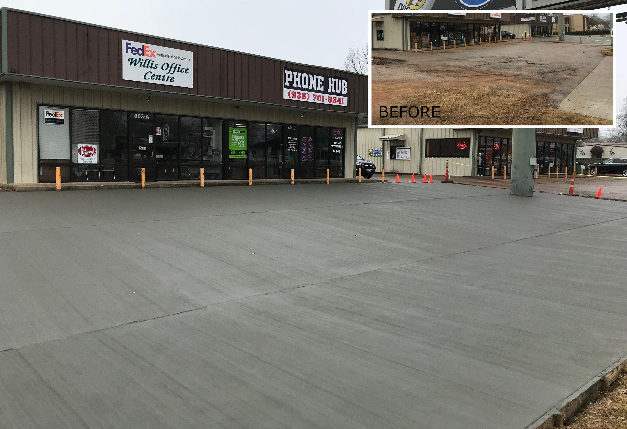 Parking Lots - (Image: Concrete parking lot, before & after)