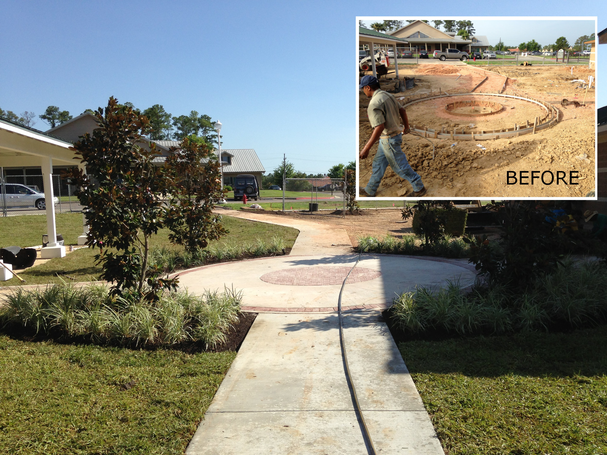 Decorative - (Image: Decorative sidewalk - before & after)