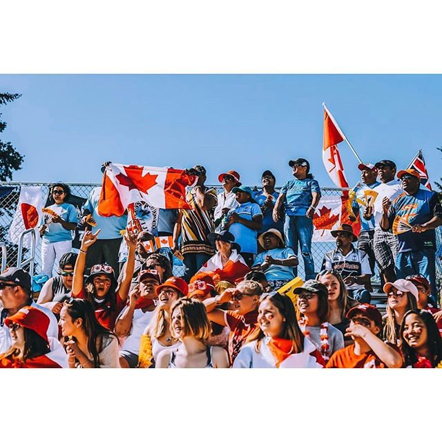 Gearing up. Cheering loud. Have fun out there! Photo: @canadasevens #weekendadventures #postmarkbrewing . We're at Westhills Stadium all weekend cheering on our Women's @canadasevens Come find us wherever refreshment is sold, and cheer on the home team! #rugby #rugbycanada #canada7s #vancouverisland