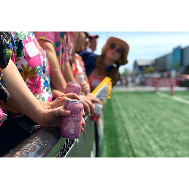 #EnjoyYourPostmark | On and off the field #postmarkbrewing #juicypaleale #paleale #craftbeer #beer #juicycan . Are you here with us @canadasevens? Tag us in your shots for a chance to be featured all weekend long! #canada7s #rugby