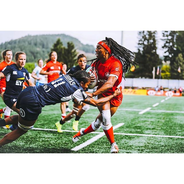 #MondaysMissing Powerful moments. Photo: @canadasevens #postmarkbrewing #canada7s . Watching moments like this unfold are part of what makes @canadasevens so amazing. We're honored to be a part of this amazing event every year, and super proud of our #canada7s women's team for their training and hard work! Cheers to next year 🍻 #rugbycanada #rugby #vancouverisland #girlpower
