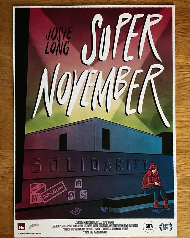 Our super poster by @juliascheeleillustration is available to buy in our shop 😎  / / / / / #supportindiefilm #nobudgetfilmmaking #supernovember #bifa #josielong #poster #filmposter #cinema #merch #shop