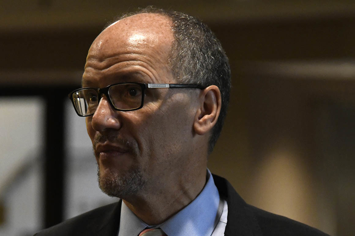Congressional Black Caucus members said some of them were wary about voting no confidence in Democratic National Committee Tom Perez so quickly after the midterms. | Annie Rice/AP Photo