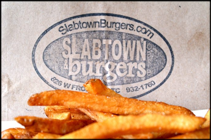 Slabtown - Burger-centric counter serve dishing up handcrafted patties in quaint, colorful digs with a patio.(231) 932-1760