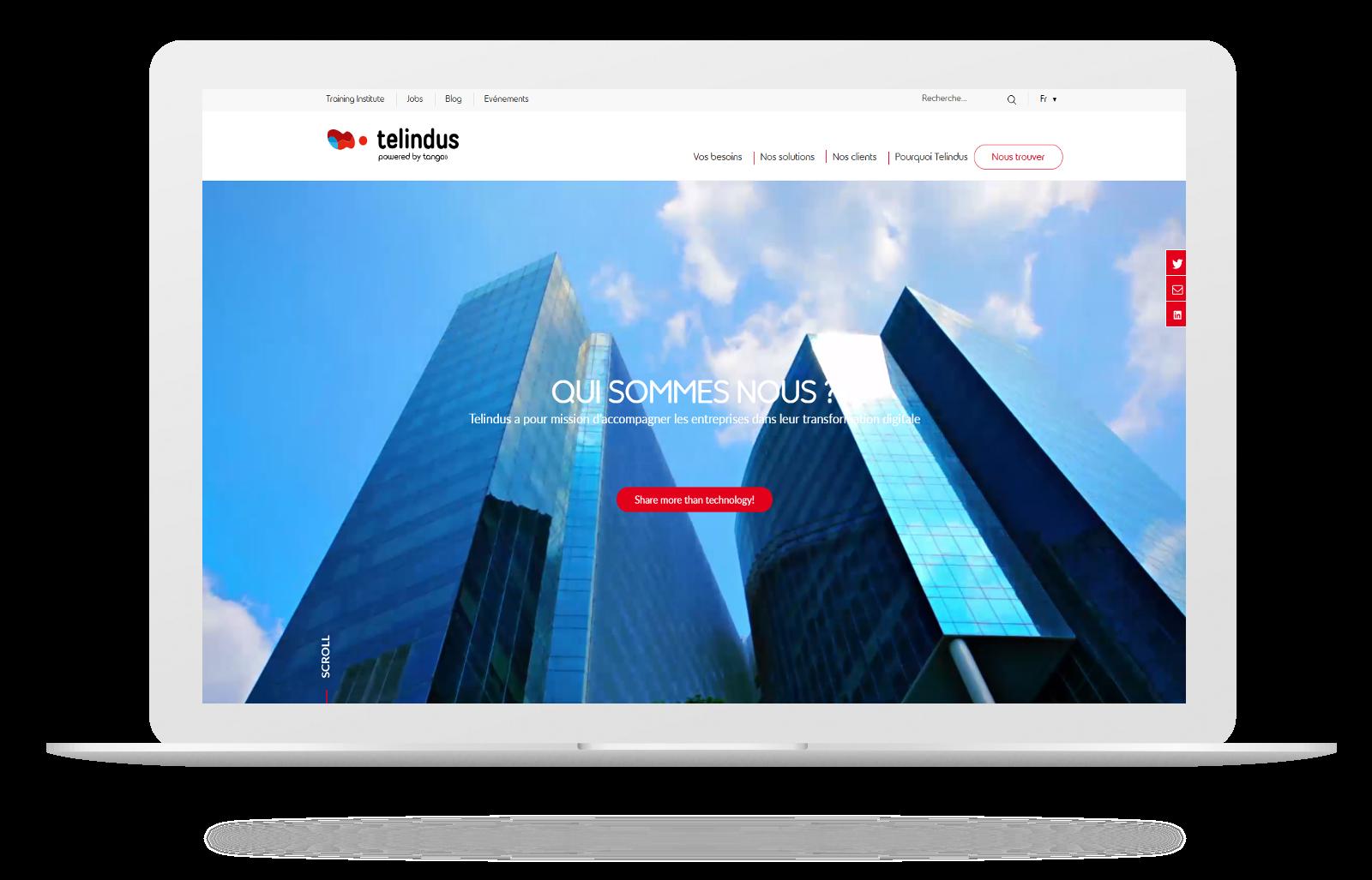 Découvrez le nouveau site Telindus