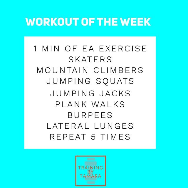 Here's a workout you can do at home when you're crunched for time. It's heavy on the cardio, so be ready to get your heart rate up! As always, you can modify to create an easier or harder workout. Have a great weekend 💪🏼 . . . . . . . #trainingbytamara #personaltrainer #personaltraining #health #fitness #healthgoals #motivation #workout #circuit #bodyweightworkout
