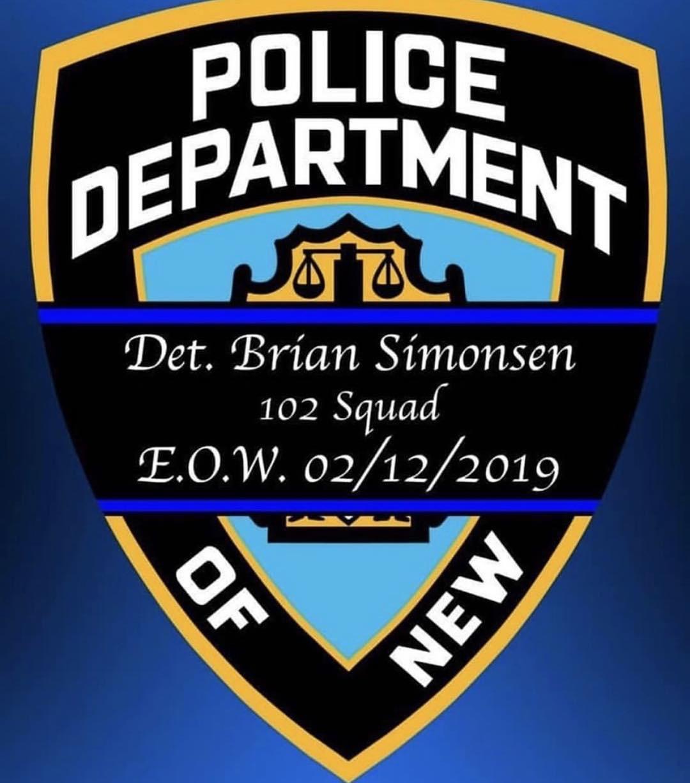 Police Department Det. Brian Simons 102 Squad E.O.W. 02/12/2019