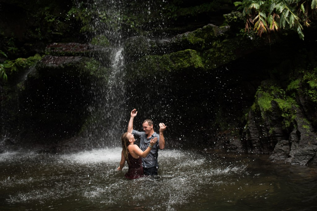 Waterfall Engagement Photographer, Ashley Hamm