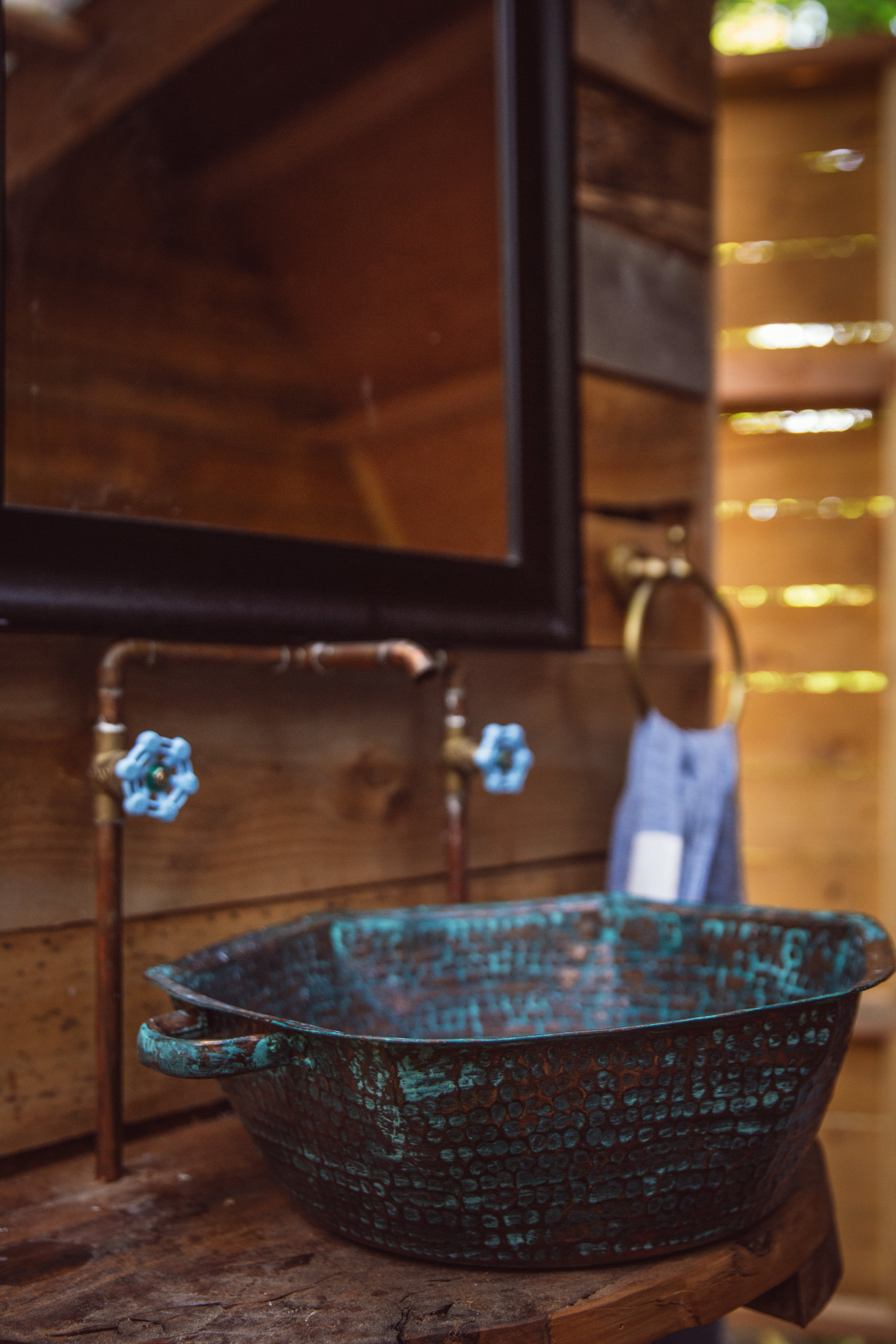 hand made copper sink