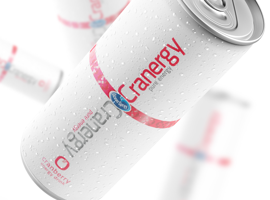 Cranergy | Energy Drink - Packaging and naming